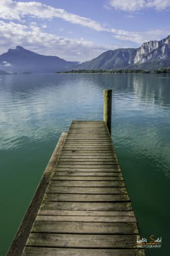 jezero Mondssee rakousko