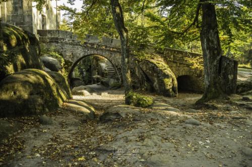 Most ke kapli v broumovských stěnách