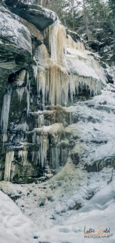 Vlčí ledopád - Teplické skály
