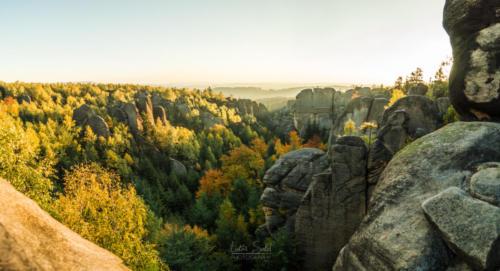 Skalní divadlo panorama - Broumovsko