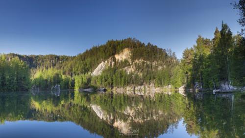 Jarní panorama pískovny Adršpach - Broumovsko