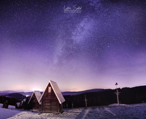 Noční panorama z Janoviček - Broumovsko