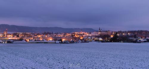 Zimní panorama města - Broumov